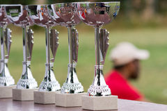 Cups awards tennis tournament. Stock Image