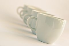 Cups background Stock Photography