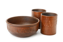 Cups and bowl Royalty Free Stock Photos