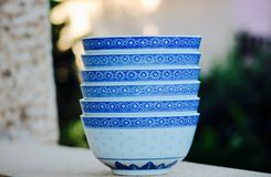 Cups, Bowls, Dishes, Ceramics Stock Photography