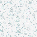 Cups and cakes Royalty Free Stock Photos