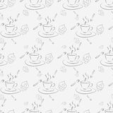 Cups and cakes Royalty Free Stock Image