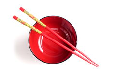 Cups and chopsticks Royalty Free Stock Photos