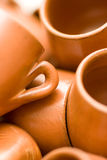 Cups from clay Royalty Free Stock Images