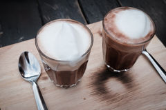 Cups of cocoa Stock Images