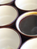 Cups of coffee. Cup of coffee. Abstract composition Stock Photography