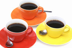 Cups of coffee... Stock Photo