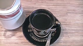 Cups of coffee stock video