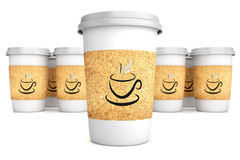 Cups with coffee Stock Photography