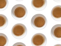 Cups of coffee. Multiple cups od coffee on white background Royalty Free Stock Photo