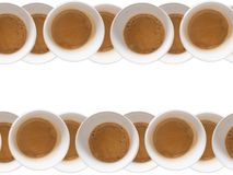 Cups of coffee. Multiple cups od coffee on white background Stock Photos