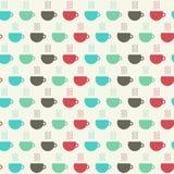 Cups of coffee seamless pattern. illustration stock illustration