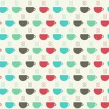 Cups of coffee seamless pattern. Vector illustration. Seamless pattern with cups of coffee. Vector background in flat for design royalty free illustration