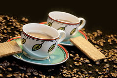 Cups of coffee Stock Images
