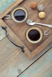 Cups of coffee Stock Image