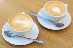 Cups of coffee. Two cups of italian coffee Stock Photo