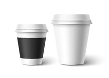 Cups of coffee. Vector Royalty Free Stock Images