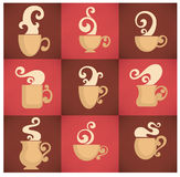 Cups collection Royalty Free Stock Photography