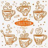 Cups collection Royalty Free Stock Images