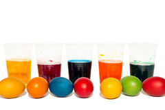 Cups with colorful liquid Royalty Free Stock Photography