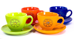 Cups colors Stock Photography