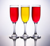 3 cups coloured with spanish flag Royalty Free Stock Photography