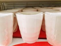 Cups. Cup coffee white isolated empty morning stock photos