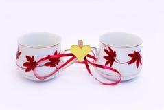 cups dagvalentiner Royaltyfria Bilder