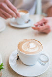 Cups of delicious coffee Royalty Free Stock Images