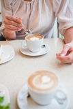 Cups of delicious coffee Royalty Free Stock Photography