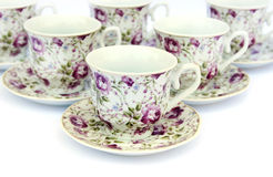Cups with dishes Royalty Free Stock Photo