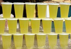Cups with Drinks for Sale Royalty Free Stock Photo