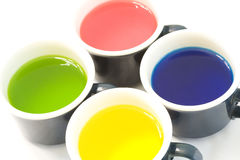 Cups of Dye. For Coloring Easter Eggs royalty free stock image