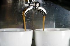 cups espresso två Arkivfoto