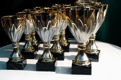 Cups finalists Stock Images