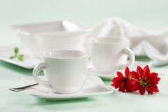 Cups with flowers Royalty Free Stock Photos