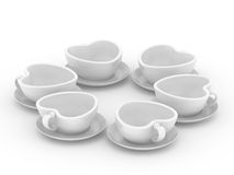 Cups in the form of heart Royalty Free Stock Photo