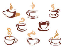 Cups with fragrant coffee Stock Photography