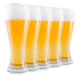 Cups of fresh beer Royalty Free Stock Photography