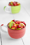 Cups with fruits Stock Photo