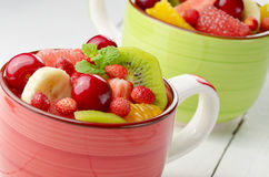 Cups with fruits Royalty Free Stock Images