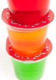 cups gelatin Royaltyfri Bild