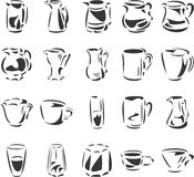 Cups and Glasses Stock Image