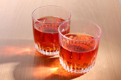 Cups glasses of whiskey Royalty Free Stock Photography