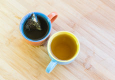 Cups of healthy organic tea Royalty Free Stock Photography