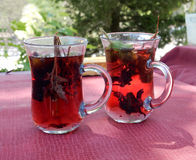 Cups of herbal tea Stock Photography