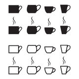 Cups icons Royalty Free Stock Photos