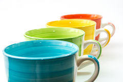 Cups isolated stock photography