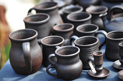 Cups and jugs Stock Photography