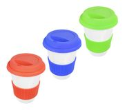 Cups with Lids Stock Image